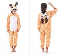 Теплая, мягкая детская пижама олененок бемби130 (на рост 130-140см)