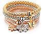 Женский браслет, тройной. Совы, фото 5