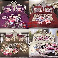 Постельное белье узоры 2х спальный 180х200 сатин цвета в ассортименте