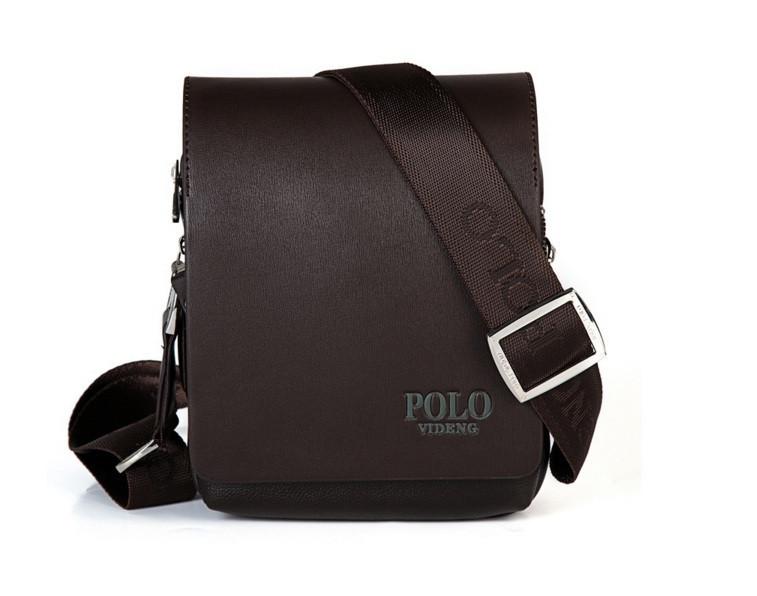 Мужская кожаная сумка через плече Polo