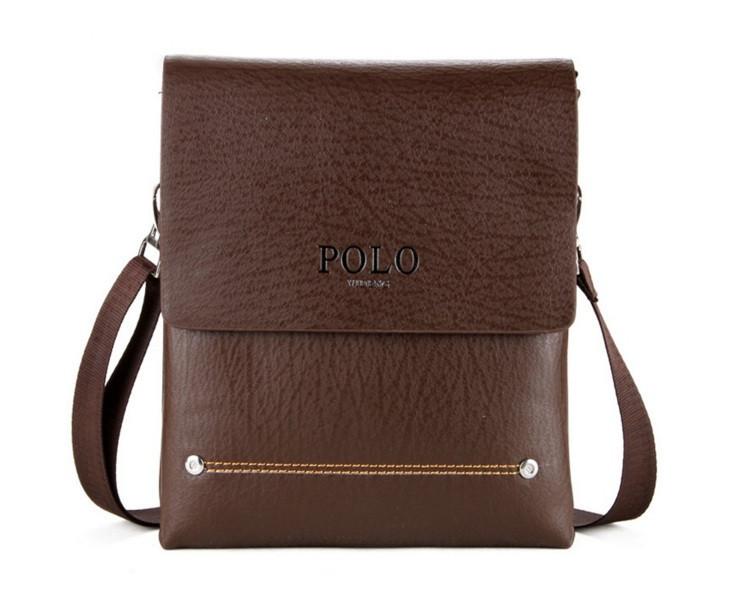 Мужская кожаная сумка через плече Polo Новая Модель