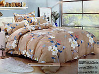 Постельный комплект 2х спальный  180х200 Колосо-Сумка зеленая сатин цвета в ассортименте, фото 1
