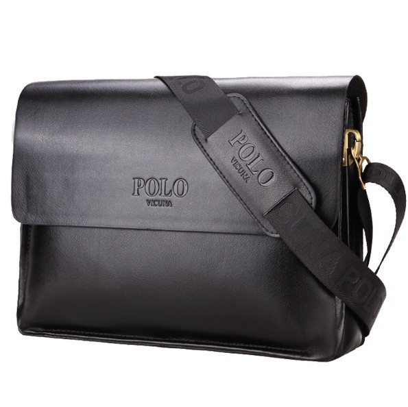Мужская сумка. Бизнес сумка. Повседневная офисная стильная. Кожаная сумка портфель POLO A4