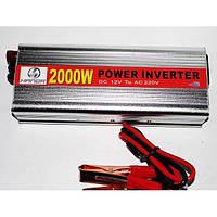 Автомобильный инвертор 2000W преобразователь напряжения 12/220, фото 1