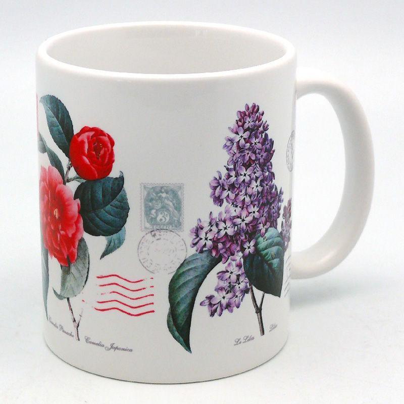 Кружка сувенирная «Цветы», 350 мл., h-9,5 см. 262-2228