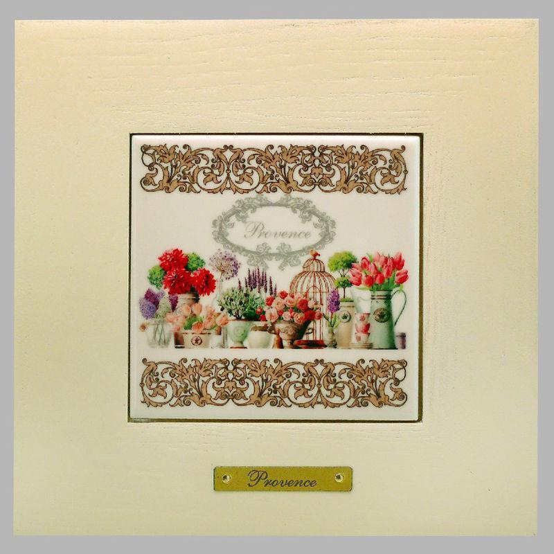 Панно настенное «Прованс. Цветы», 10х10, 18х18 см. 262-3017W