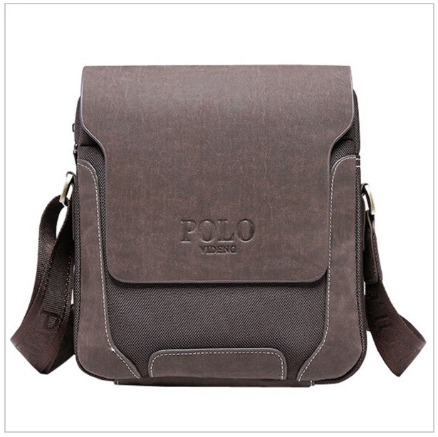 Мужская кожаная сумка Polo Новая модель