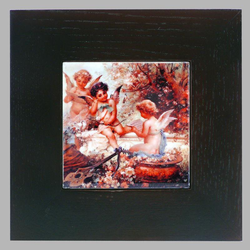 Панно настенное 'Купидон' , 10х10, 18х18 см. 262-3005B