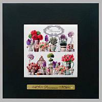 Панно настенное «Прованс. Цветы», 10х10, 18х18 см. 262-3016B
