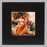 Панно настенное «Девушка с Амуром в парке», 10х10, 18х18 см. 262-3020B