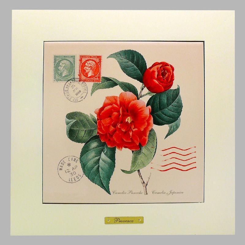 Панно настенное «Прованс. Роза», 20х20, 28х28 см. 262-5044W