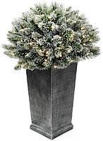 Напольный новогодний LED-декор из искусственной хвои в вазоне 91см, 150 веток