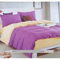 Комплект постельного белья евро однотонка сатин (качество хорошее) размер 200х230 наволочки 4 шт