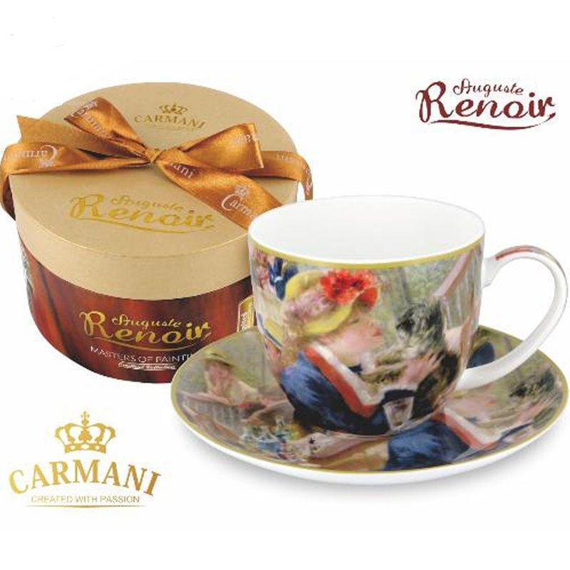 Чашка с блюдцем О.Ренуар «Дама с собачкой» Carmani, 300 мл 045-0216