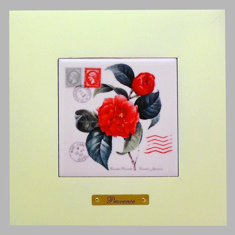 Панно настенное «Прованс. Роза», 10х10, 18х18 см. 262-3026W