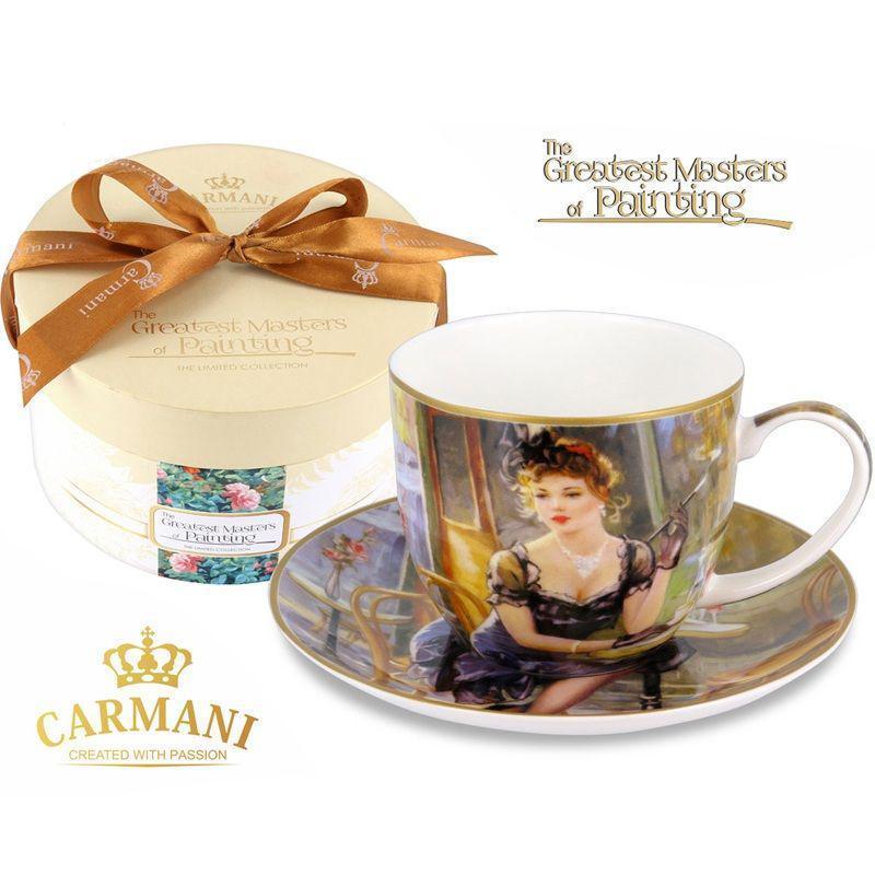 Чашка с блюдцем Carmani, 300 мл (045-0226)