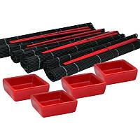 Набор для суши 4 персоны «Красное и Черное» 220-2037