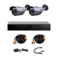 Комплект AHD видеонаблюдения на 2-е уличные камеры с ИК-подсветкой 60 м CoVi Security HVK-2004 AHD PRO KIT