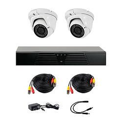 Комплект AHD видеонаблюдения на 2-е купольные камеры CoVi Security HVK-2006 AHD PRO KIT