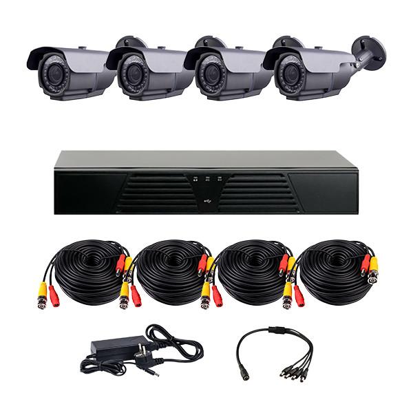 Комплект AHD видеонаблюдения на 4-е уличные камеры с ИК подсветкой 60 м CoVi Security HVK-3004 AHD PRO KIT