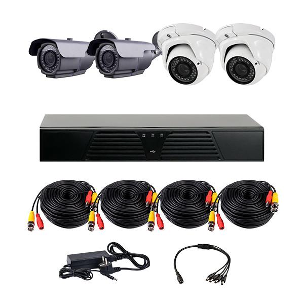 Комплект AHD видеонаблюдения из 2-х уличных и 2-х купольных камер CoVi Security HVK-3005 AHD PRO KIT