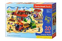 """Пазлы Castorland Макси """"Строительство дома"""" С-02412 20 элементов (53083)"""