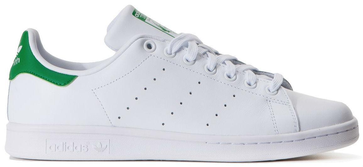 Adidas Stan Smith White Green   кроссовки мужские и женские  кожаные  белые  с зеленым - Bigl.ua b2de7d7c5fb