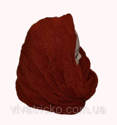 Вязанный шарф хомут м 9301, цвета в ассортименте