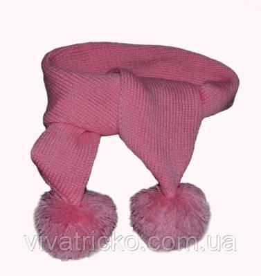 Вязанный шарф с бубоном м 9200