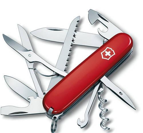 Складной практичный нож Victorinox Huntsman 13713 красный
