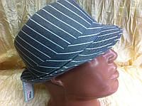 Мужская  шляпа  в полоску серая
