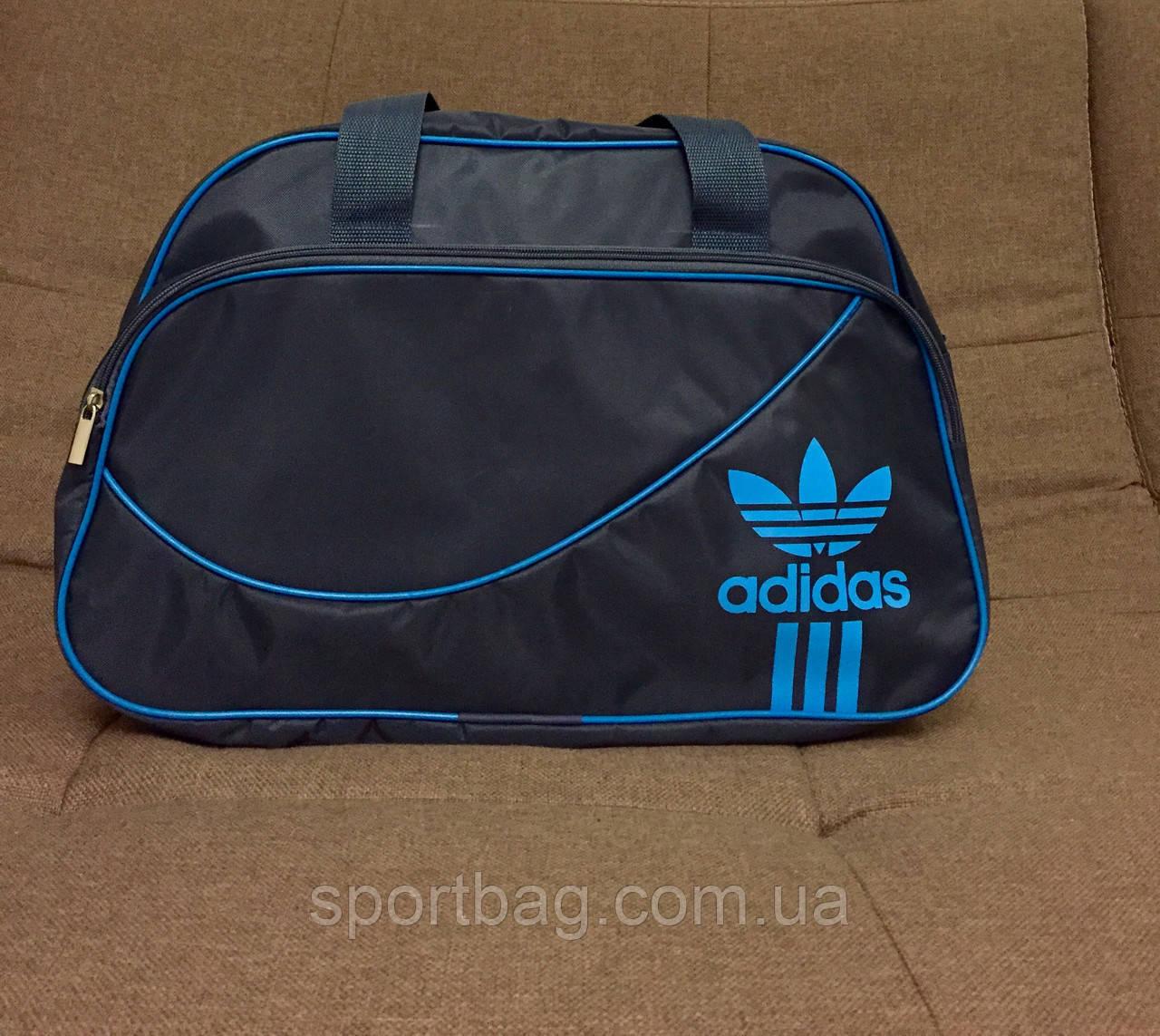 ad46c9a2 Сумка спортивная Adidas БЖ (серый+голубой цвет) - Интернет-магазин Sportbag.