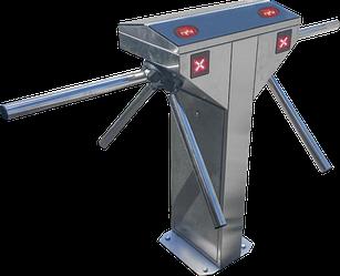 Турникет-трипод Tiso CENTURION TWIN полированная нержавеющая сталь
