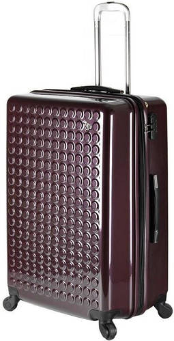 Большой, чемодан из пластика на 4-х колесах  92/106 л. Sumdex (Самдекс) SWR-728RP темно фиолетовый
