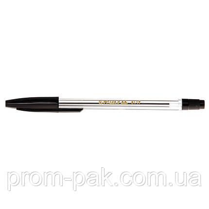 Ручка шариковая простая Buromax 8117-02 черная, фото 2