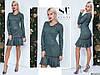Ошатне смарагдове трикотажне жіноче плаття з люрексом декороване брошкою. Арт - 7651/65