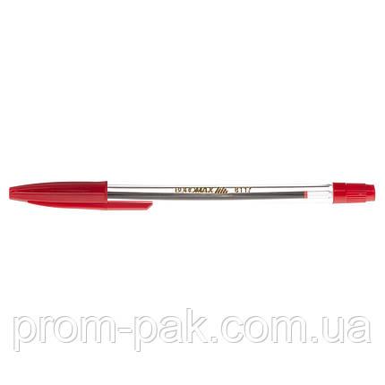 Ручка  шариковая  Buromax 8117-03 красного цвета, фото 2