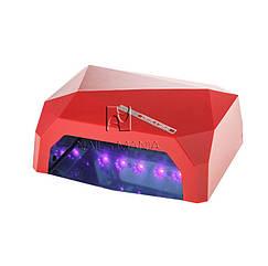 УФ LED+CCFL лампа (таймер 10, 30, 60сек) 36 Вт (красная)
