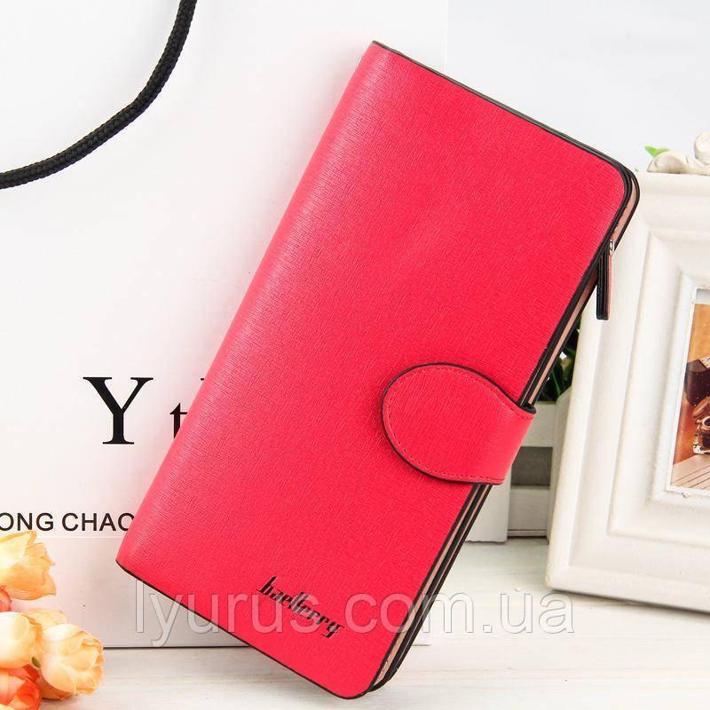 Стильний жіночий гаманець, клатч Baellerry Female, балери. Червоний. Шкіра PU