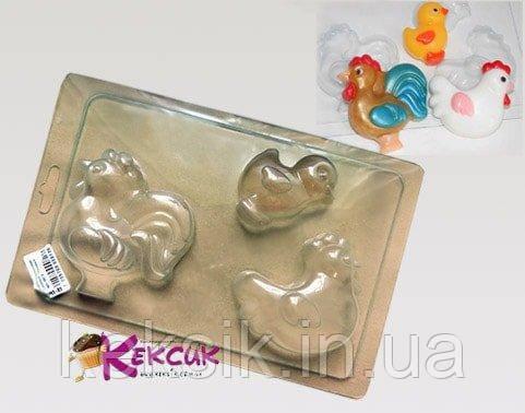 Пластиковий молд для шоколаду Сімейка петуховых