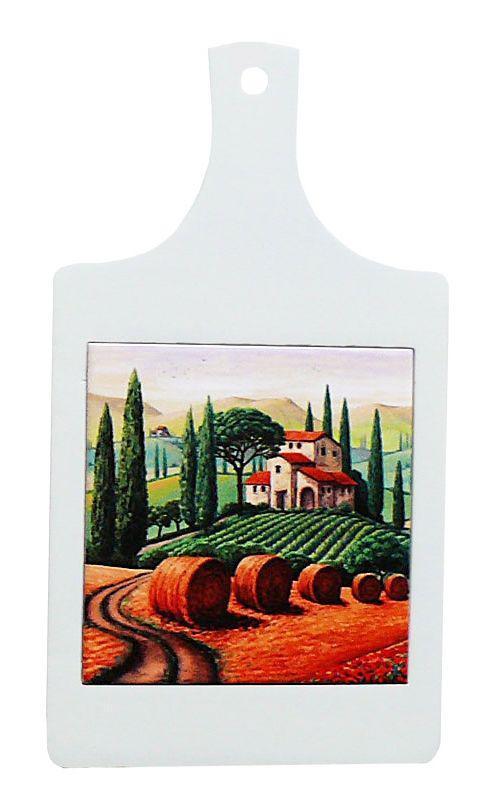 Доска для нарезки сувенирная «Тоскана. Италия», 32х18, 15х15 см. 262-9022