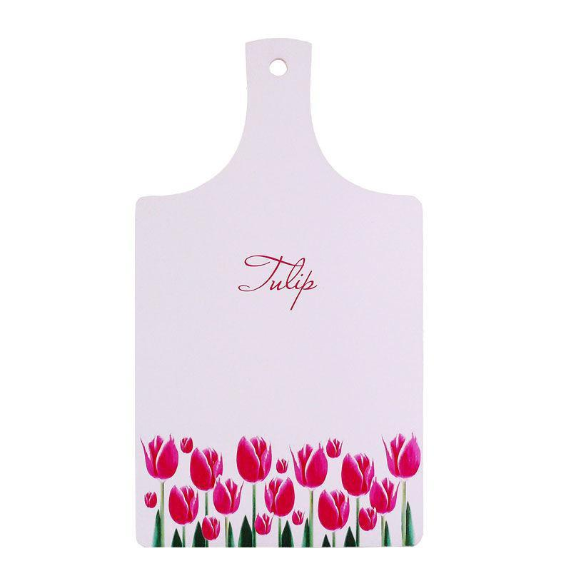 Доска для нарезки сувенирная «Тюльпаны», 33х18 см. 262-8030