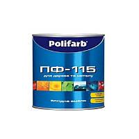 Эмаль алкидная POLIFARB ПФ-115 ГОСТ универсальна, коричнево-шоколадная, 2,7кг