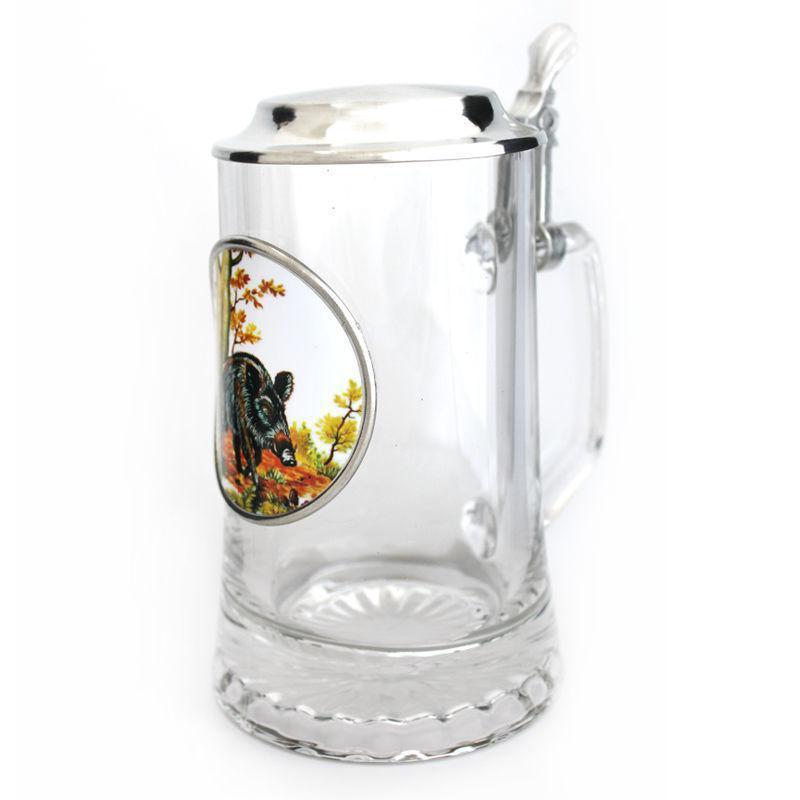 Пивная кружка с крышкой Германия пищевое олово«Кабан» Artina SKS, 500мл (15869.1a)
