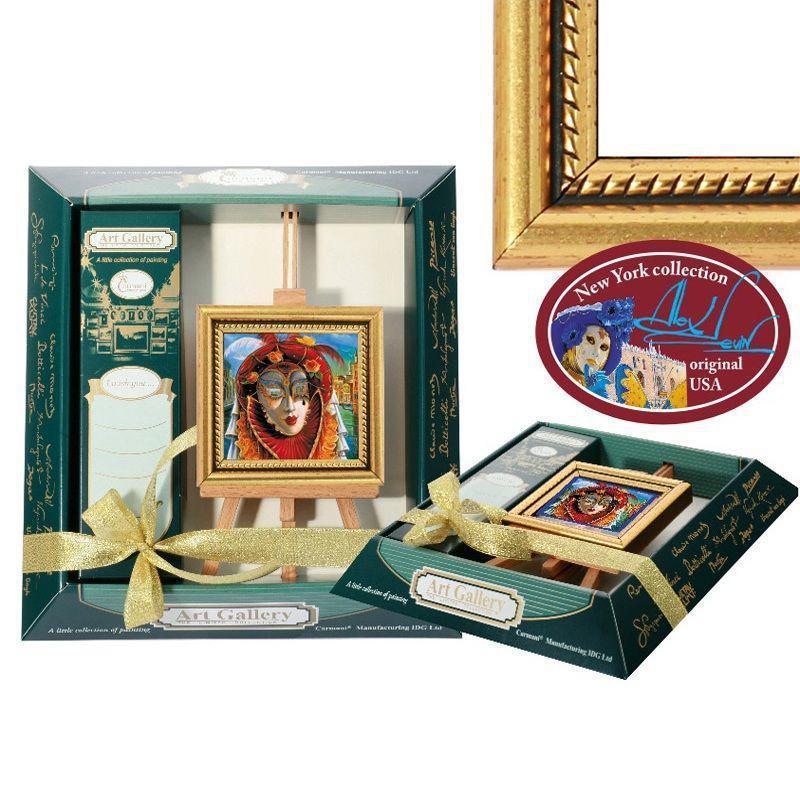 Картина мольберт «Венецианские леди» 9х10 см. 190-0122