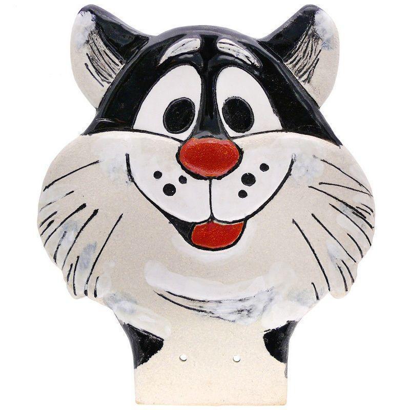 Фигура декор для забора «Котик» h-26 см. GK401A