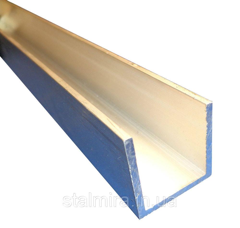 Швеллер алюминиевый 12x12, толщина стенки 2, марка алюминия АД31, АМг6, Д16, АМг5, АМг2