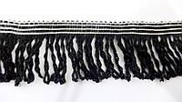 Бахрома  простая  6 см  черный