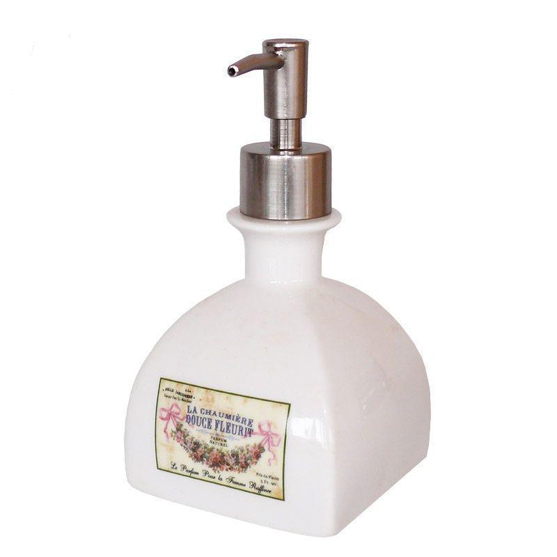 Дозатор для жидкого мыла керамический, h-16,5х9х9 см. 124-0067