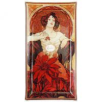 Тарелка декоративная художника Альфонс Мария Муха 'Рубин' 46х24 см. 198-2503